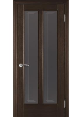 межкомнатные двери шпонированные модель 117 венге со стеклом
