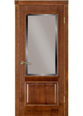 Модель 04 дуб браун со стеклом