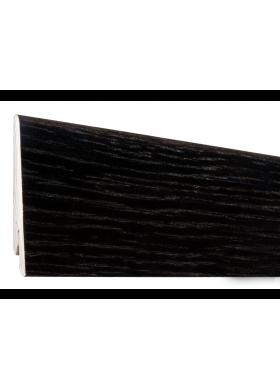 Плинтус шпонированный дуб черный