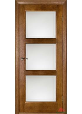 Лестница рустикаль со стеклом