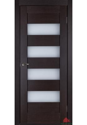 межкомнатные двери экошпон горизонталь венге со стеклом купить в