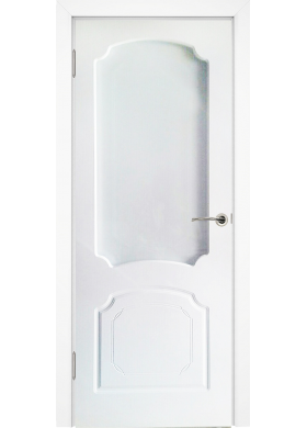 Виктория белая эмаль со стеклом