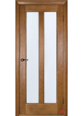 Межкомнатная дверь Дива дуб рустикаль со стеклом