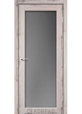 Межкомнатная дверь Korfad SV-01 дуб нордик графит стекло триплекс 8 мм