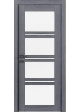 Межкомнатная дверь Rodos Quadro каштан серый со стеклом