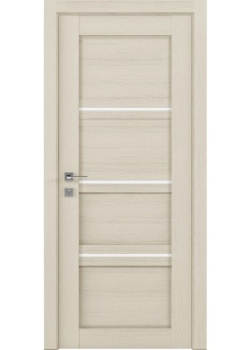 Межкомнатная дверь Rodos Quadro каштан беж полустекло